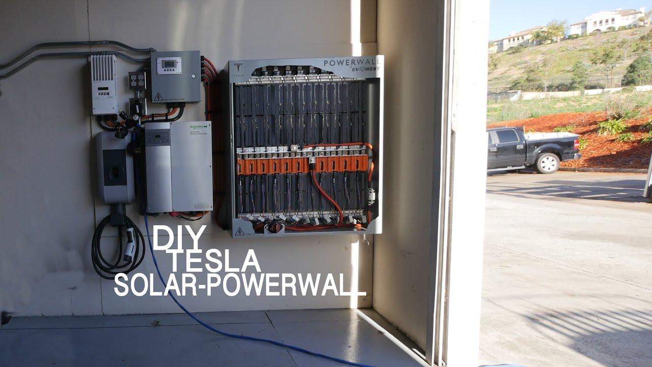 33kwh Diy Solar Tesla Powerwall Sun Gardener