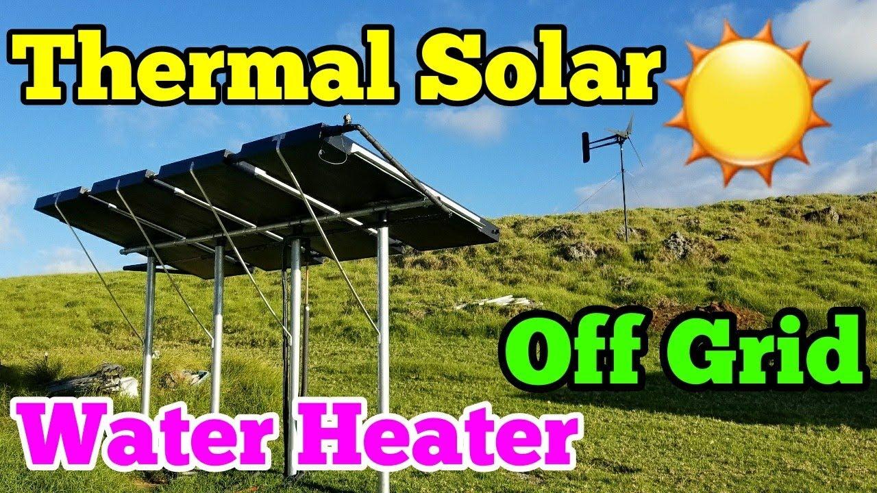 DIY Thermal Solar Hot Water Heater Installation Easy - Sun ...